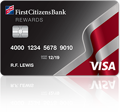 First Citizens Bank Rewards Visa card